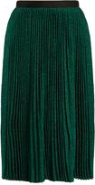 Vanessa Bruno Flo plissé knit midi skirt