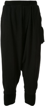 Julius Cropped Drop-Crotch Trousers