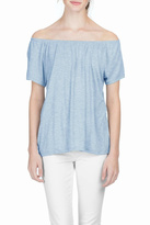 Lilla P Shirred Neck Top
