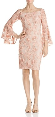 Avery G Floral Embellished Lace Dress