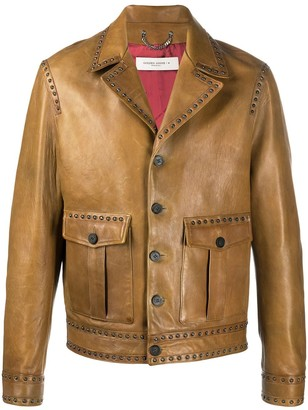 Golden Goose Studded Leather Jacket