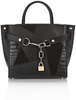 Alexander Wang Attica Chain Satchel Mixed Black Mixed Patchwork With Rhodium