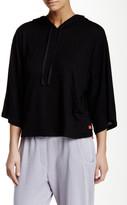 Josie Lounge Hooded Linen Blend Sweater