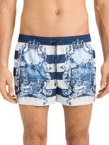 Dolce & Gabbana Stripe Print Swim Trunks