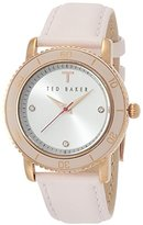 Ted Baker Women's TE2110 Smart Casual Three-Hand Pink Leather Watch