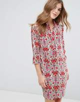 Lavand 3/4 Sleeve Printed Shift Dress