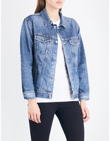 AG Jeans Nancy Bowie-motif denim jacket