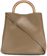 Marni Pannier tote bag - women - Calf Leather/Brass - One Size