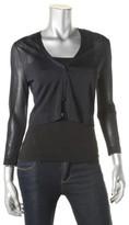 Lauren Ralph Lauren Womens Sheer Crop Cardigan Sweater