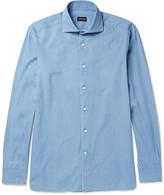 Ermenegildo Zegna - Slim-fit Cutaway-collar Cotton-chambray Shirt