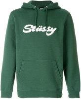 Stussy logo patch hooded sweatshirt