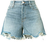 J Brand frayed denim shorts - women - Cotton - 23