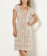 BEIGE Coline Women's Casual Dresses  Floral Embroidered Dress - Women & Plus