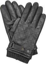 Dune Accessories Pollars - Ribbed Cuff Quilted Leather Glove