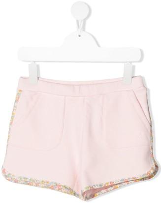 Bonpoint TEEN liberty-print trim fleece shorts
