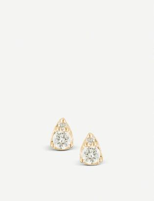 THE ALKEMISTRY Dana Rebecca Sophia Ryan 14ct yellow-gold and diamond stud earrings