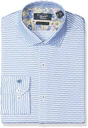 Original Penguin Men's Slim Fit Performance Spread Collar Printed Dress Shirt