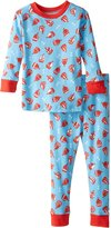 New Jammies Little Boys' Sail Away Organic Cotton Pajamas, Blue, 5