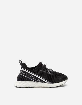 Dolce & Gabbana Mesh Slip-On Sneakers