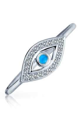 Bling Jewelry Sterling Silver Pave CZ Evil Eye Ring