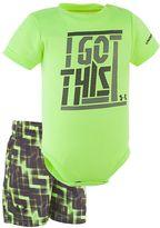 "Under Armour Baby Boy I Got This"" Graphic Bodysuit & Geometric Shorts Set"