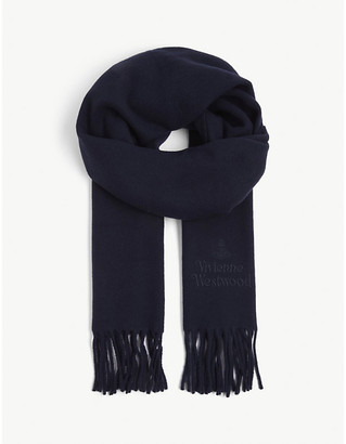 Vivienne Westwood Logo-embroidered wool scarf