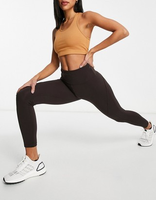 Lorna Jane Evie ankle biter leggings in brown