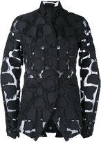 Masnada appliqué sheer jacket - women - Cotton/Polyester - 42