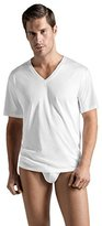 Hanro Men's Cotton Sporty V-Neck Shirt