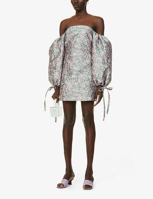 Olivia Rose The Label Joanne off-the-shoulder brocade mini dress