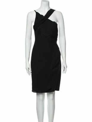 Christian Lacroix Silk Knee-Length Dress Black