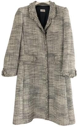 Philosophy di Alberta Ferretti Blue Linen Coat for Women