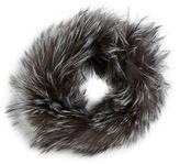Adrienne Landau Silver Fox Fur Headband