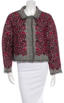 Oscar de la Renta Virgin Wool Embroidered Blazer