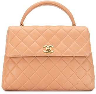 Chanel Pre Owned 1997 Diamond Quilt Flap Tote