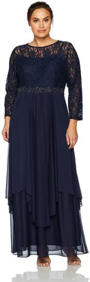 Decode 1.8 Women's Plus Size Glitter Lace with Solid Skirt