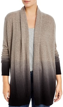C by Bloomingdale's Dip Dyed Cashmere Cardigan - 100% Exclusive