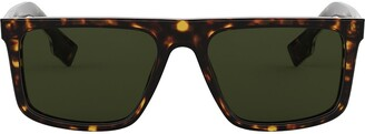 Burberry Eyewear Rectangular Frame Sunglasses