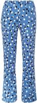 Altuzarra Ross polka-dot crepe flared trousers