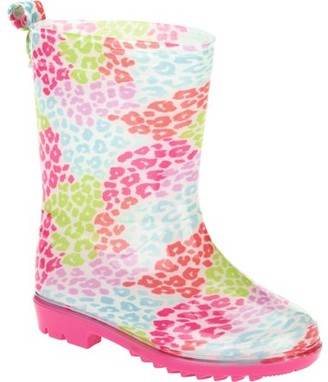 Generic Pebble Leopard Printed Toddler Girls' Jelly Rain Boots