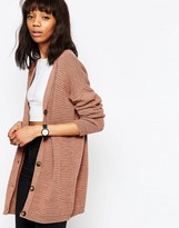 Asos Chunky Boyfriend Cardigan in Wool Mix Yarn