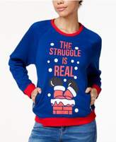 Mighty Fine Juniors' The Struggle Is Real Holiday Graphic Sweatshirt