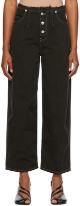 MM6 MAISON MARGIELA Black Button Jeans