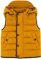 Burberry Baby sleeveless padded jacket with a removable hood