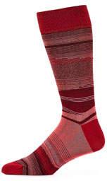Bugatchi Men's Abstract Striped Dress Socks
