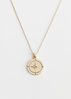 And other stories Compass Pendant Necklace