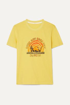 Zimmermann Goldie Printed Cotton-jersey T-shirt - Yellow