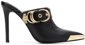 Versace buckle-embellished mules
