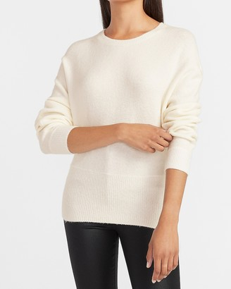 Express High Banded Bottom Crew Neck Sweater