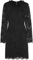 Marc by Marc Jacobs Velvet-Trimmed Guipure Lace Mini Dress